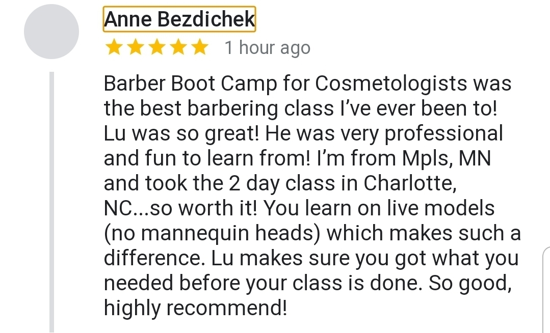 Barber Class with Lu The Barber